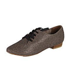 Modesta by Beston Women's 'Maya-03' Bronze Sparkle Oxfords