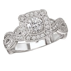 14k White Gold 1/3ct TDW Diamond Engagement Ring (G/H, SI1-SI2)