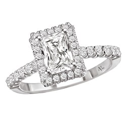 Avanti 14k White Gold 1/3ct TDW Diamond Halo Engagement Ring (G/H, SI1-SI2)