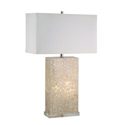 Cream River Rock Lamp with Night Light