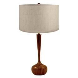Wooden Tulip Bulb Table Lamp