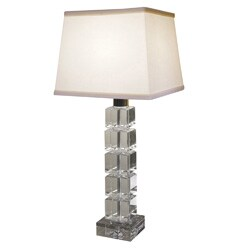 Crystal Beveled SquareTall Lamp