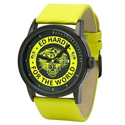 Ed Hardy Unisex Punk Yellow Watch