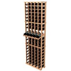 Traditional Redwood 5-Column Wine Rack with Display Row