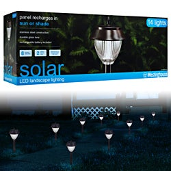 Westinghouse Premium Stainless Steel Solar Light (Set of 14)