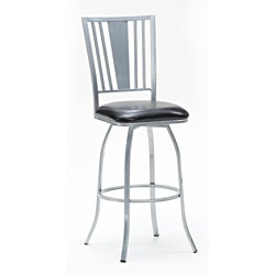 Metal Finish Silver/ Fabric Black Barstool