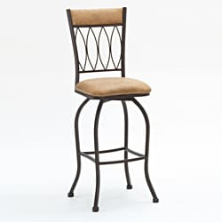 Metal Finish Copper Fabric Barstool