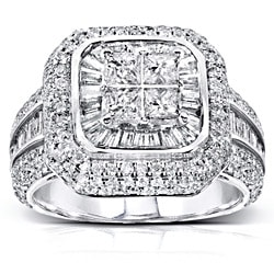 14k White Gold 2ct TDW Diamond Engagement Ring