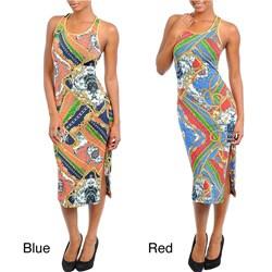 Stanzino Women's Plus Size Mid-Length Tank Dress with Criss Cross Back