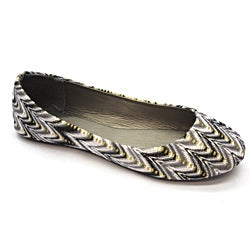 Blue Women's 'Milano' Black Woven Flats