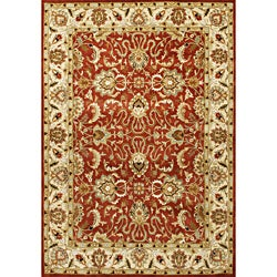 Alliyah Handmade Red Wool Rug (8' x 10')