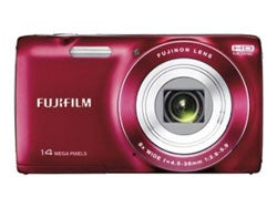 Fujifilm Finepix JZ100 14MP Red Digital Camera Bundle