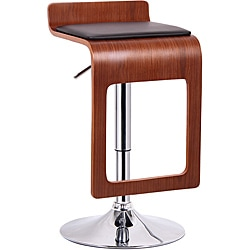 Murl Walnut and Black Modern Bar Stool (Set of 2)