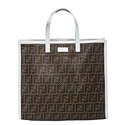 Fendi Perforated Canvas Tote Bag