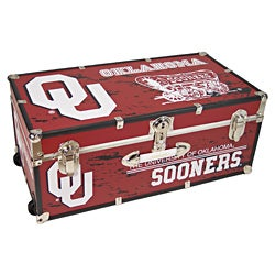 University of Oklahoma 30-inch Wheeled Foot Locker Trunk