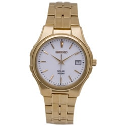 Seiko Men's Solar Goldtone Watch