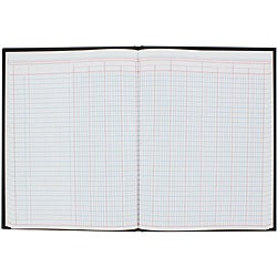 Wilson Jones 12-column 80-page Black-cover Paper Record Book (7 inches x 9 inches)