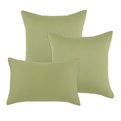 Hyannis Leaf Decorative Sage Green S-Backed Fiber Accent Throw Pillows (Set of 3)