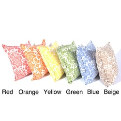 Summertime Brights Floral Print Throw Pillows