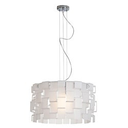 Access 'Dinari' Chrome with Frosted Acrylic 1-light Pendant