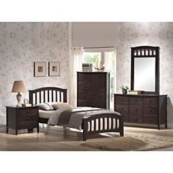 Dark Walnut Twin Bed Frame