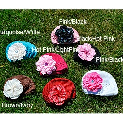 Bellarisa Designs Infant/Toddler Crochet Hat with Removable Flower Clip