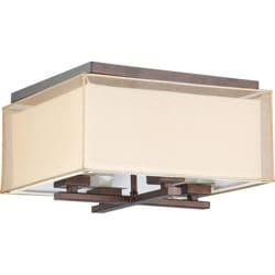 Melanie 4-Light Corvo Bronze Flush Fixture
