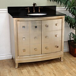 Bellaterra 36 in. Single Sink Wood Vanity with Black Granite