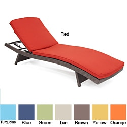 Wicker Chaise Lounger Cushion