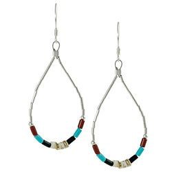 Tressa Sterling Silver Colored Bead and Shell Earrings