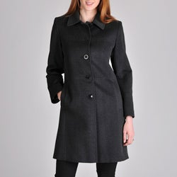 Larry Levine Women&#39;s Cashmere Wool Coat