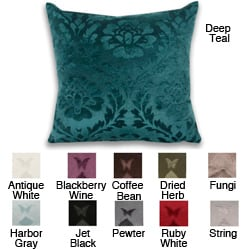 Damask Brushed 18x18-inch Pillow