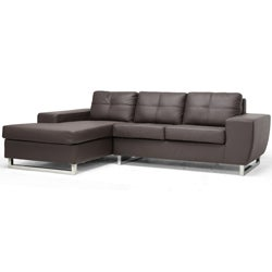 Corbin Brown Modern Sectional Sofa