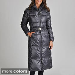Vince Camuto Women's Belted Down-filled Coat with Hood