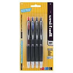 Uni-ball Signo 207 Retractable Medium Gel Ink Pens (Pack of 4)