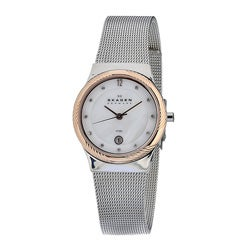 Skagen Women's Twisted Topring Steel Watch