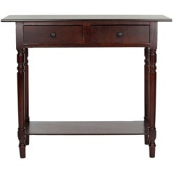 Safavieh Cape Cod Dark Cherry 2-drawer Console Table