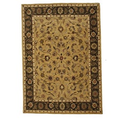 Hand-Tufted Tempest Light Gold/Charcoal Area Rug (8' x 10')