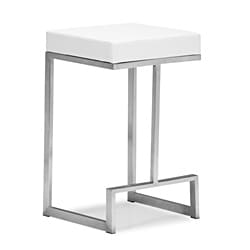 Zuo Darwen White Counter Chairs (Set of 2)