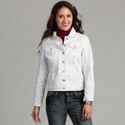 Women&#39;s Live a Little Elastic Back Denim Jacket