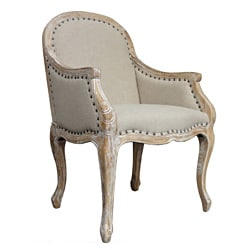 Solid Oak Carry Armchair Wheat