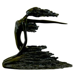 Urban Trend Resin Lady Sitting Sculpture