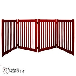 Dynamic Accents Highlander Cherry  27-inch 4-Panel Free Standing EZ Gates