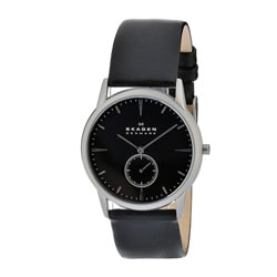 Skagen Men's Matte Steel Black Dial and Strap Watch