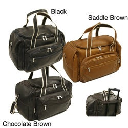 Piel Colombian Cowhide Leather 20-inch Three-pocket Duffel Bag
