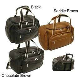 Piel Colombian Cowhide Leather 20-inch Three-pocket Duffel Bag