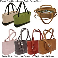 Piel Leather Women's Double Handle Tote Bag