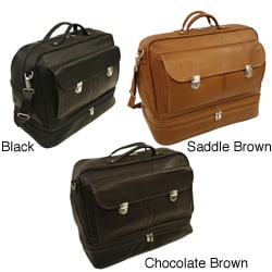 Piel Colombian Leather False Bottom Carry-on Duffel Tote Bag