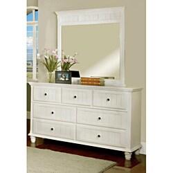 Furniture of America Fresh 2-piece White Dresser with Mirror Set