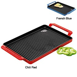 Chasseur French Cast Iron Double-enameled Large Bistro Rectangular Grill